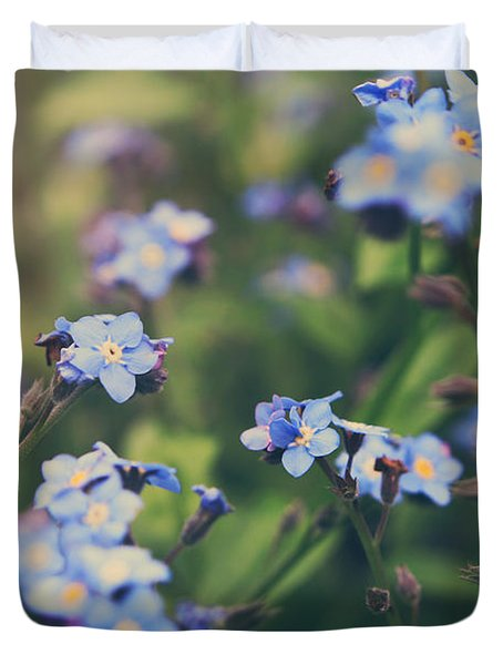 We Lay With the Flowers Duvet Cover by Laurie Search