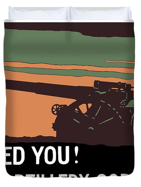We Need You Coast Artillery Corps USA Duvet Cover by War Is Hell Store