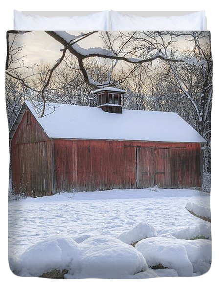 Weathering Winter Duvet Cover by Bill  Wakeley