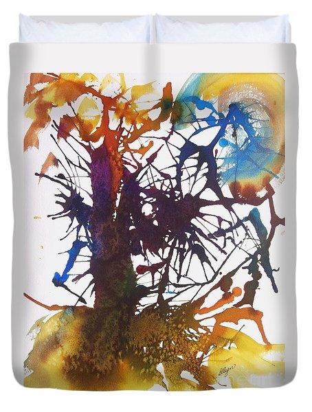 Web Of Life Duvet Cover by Ellen Levinson