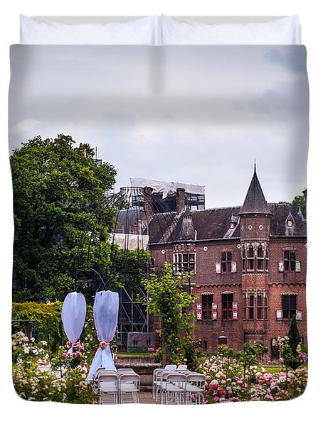 Wedding Setting in De Haar Castle. Utrecht Duvet Cover by Jenny Rainbow