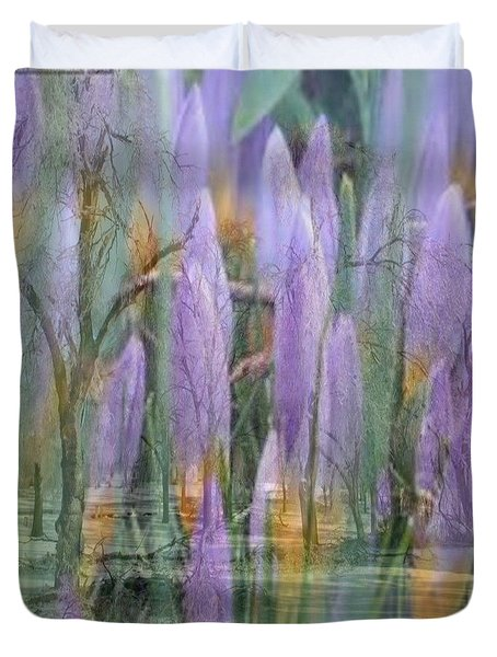 Weeping Flowers Duvet Cover by PainterArtist FIN