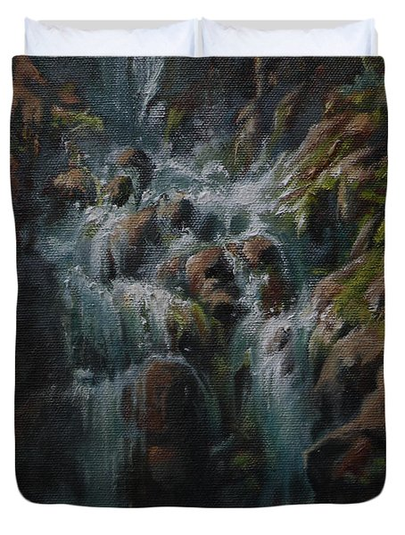 Weeping Rocks Duvet Cover by Mia DeLode