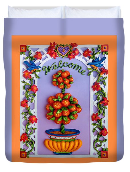 Welcome Duvet Cover by Amy Vangsgard