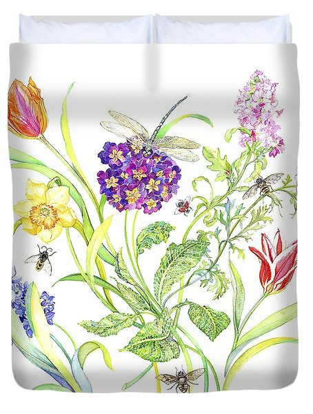 Welcome Spring I Duvet Cover by Kimberly McSparran