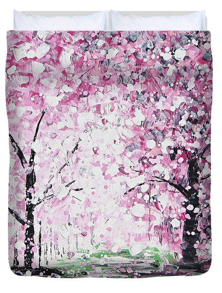 Welcome Spring Duvet Cover by Kume Bryant