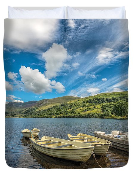 Welsh Boats Duvet Cover by Adrian Evans