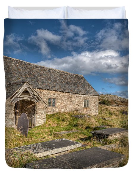 Welsh Church Duvet Cover by Adrian Evans