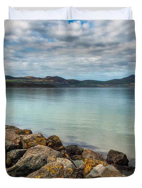 Welsh Coast Duvet Cover by Adrian Evans