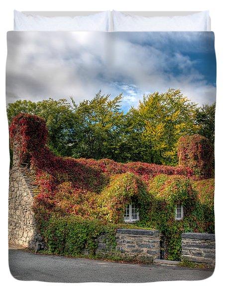 Welsh Cottage Duvet Cover by Adrian Evans