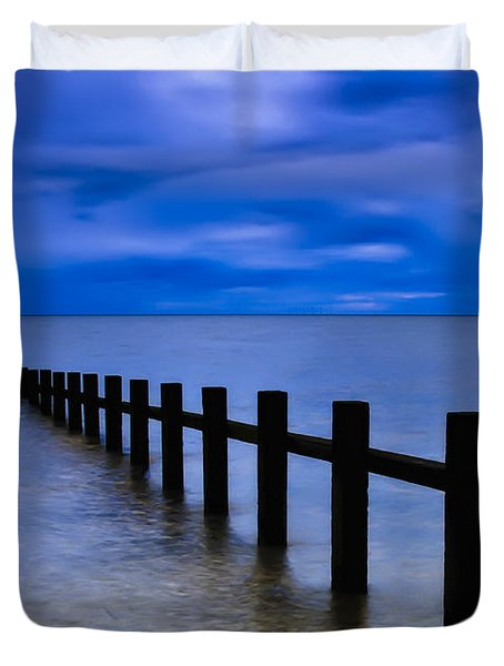 Welsh Seascape Duvet Cover by Adrian Evans