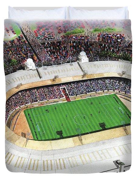 Wembley Stadium Duvet Cover by Kevin Fletcher