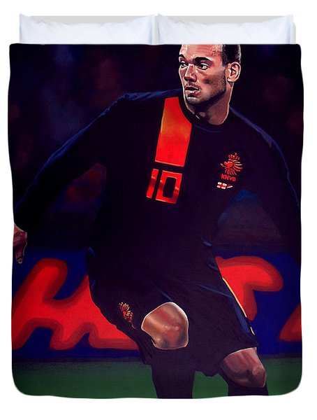 Wesley Sneijder  Duvet Cover by Paul  Meijering