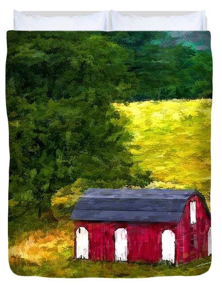 West Virginia Painted Duvet Cover by Steve Harrington