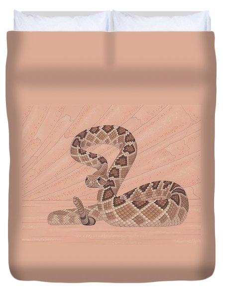 Western Diamondback Rattlesnake Duvet Cover by Nathan Marcy
