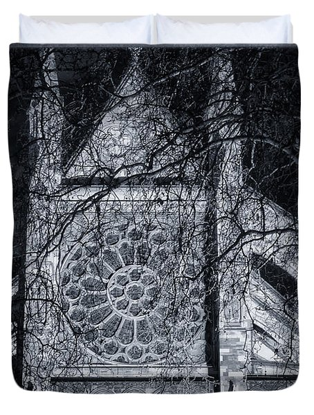 Westminster Abbey North Transept Duvet Cover by Joan Carroll