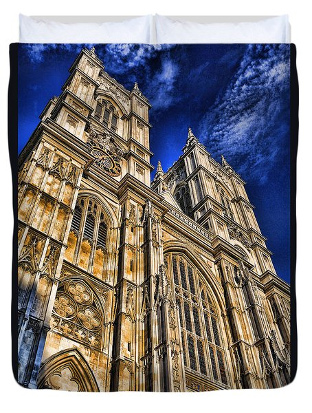 Westminster Abbey West Front Duvet Cover by Stephen Stookey