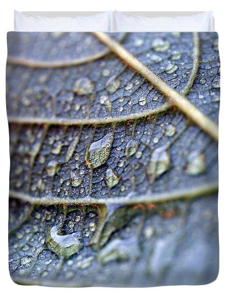 Wet Leaf Duvet Cover by Frank Tschakert