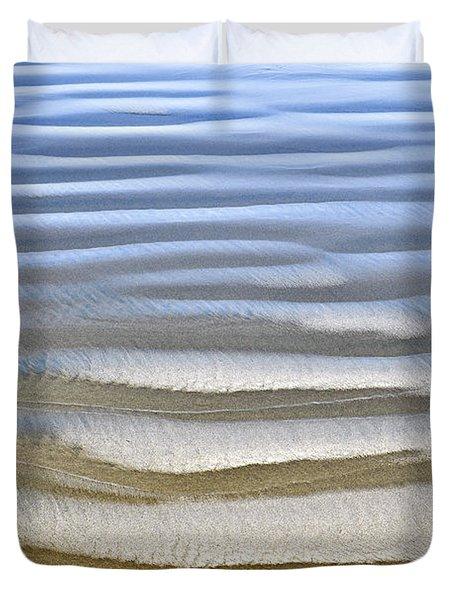 Wet sand texture on ocean shore Duvet Cover by Elena Elisseeva