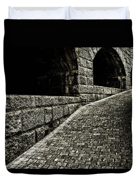 What Lurks Around The Corner Duvet Cover by Karol Livote