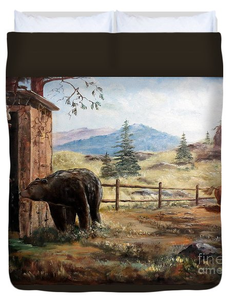 What Now Duvet Cover by Lee Piper