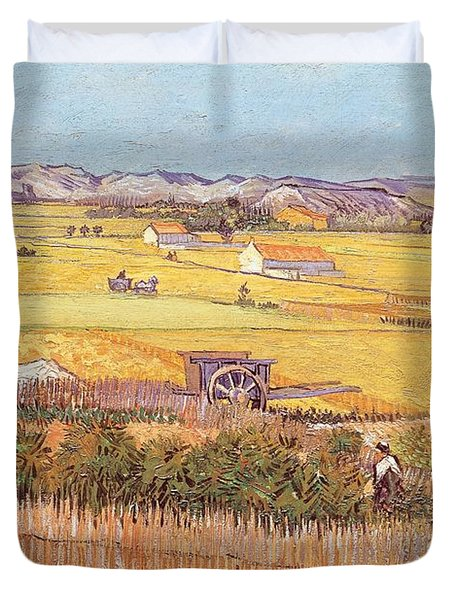 Wheatfields Duvet Cover by Vincent van Gogh
