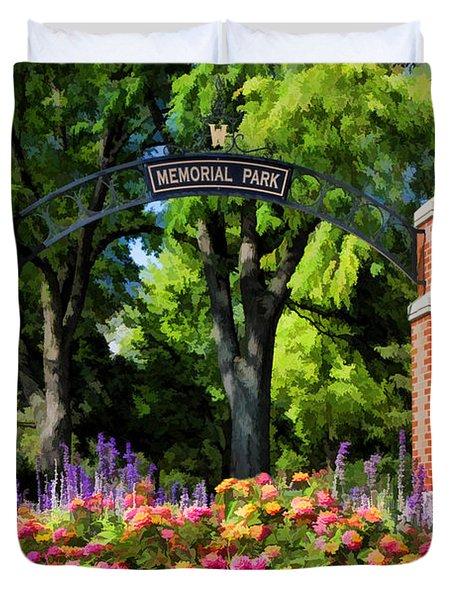 Wheaton Memorial Park Duvet Cover by Christopher Arndt