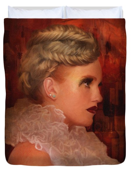 When In Paris Visit The Moulin Rouge Duvet Cover by Angela A Stanton