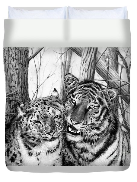 When Two Hearts Collide Duvet Cover by Peter Piatt