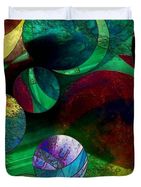 When Worlds Collide Duvet Cover by RC DeWinter