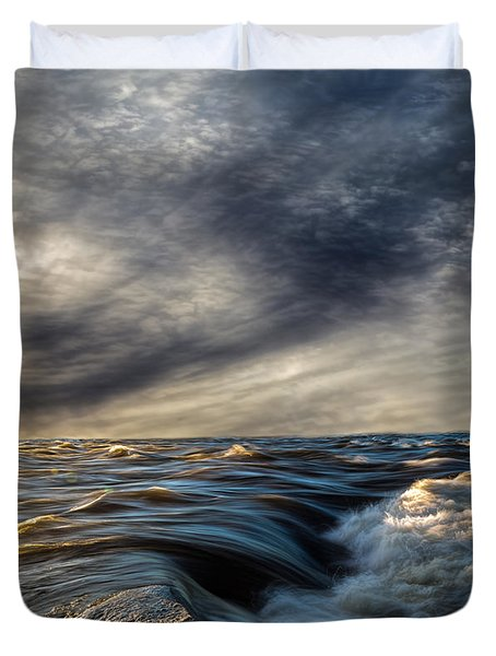 Where The River Kisses The Sea Duvet Cover by Bob Orsillo