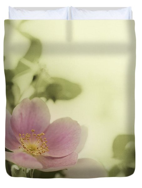 Where The Wild Roses Grow Duvet Cover by Priska Wettstein
