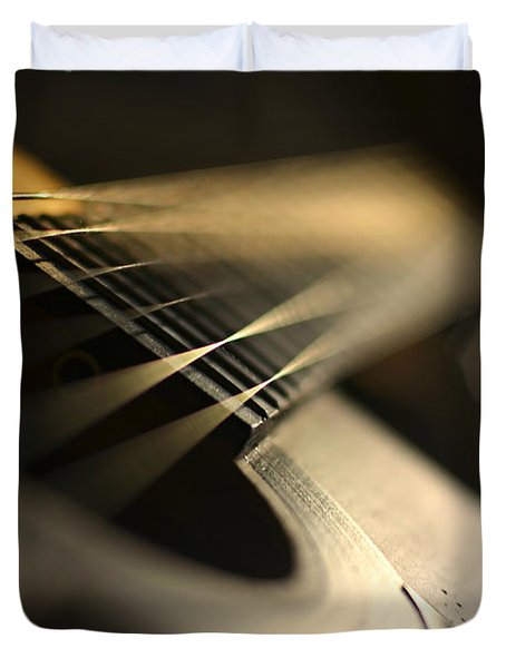 while my guitar gently weeps Duvet Cover by Laura  Fasulo