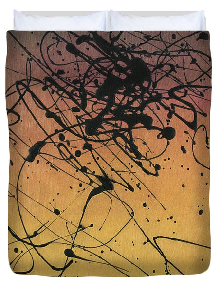 While Sisyphus Slept Duvet Cover by James W Johnson