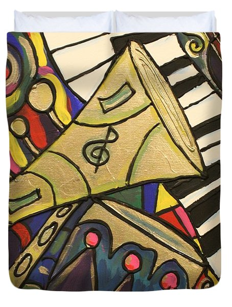Whimsical Jazz Duvet Cover by Cynthia Snyder