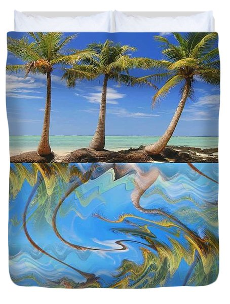 Whimsical Tropics Duvet Cover by PainterArtist FIN