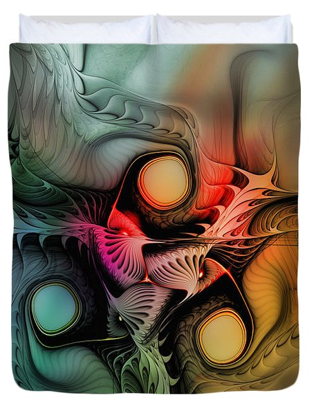 Whirlpool-Abstract Art Duvet Cover by Karin Kuhlmann