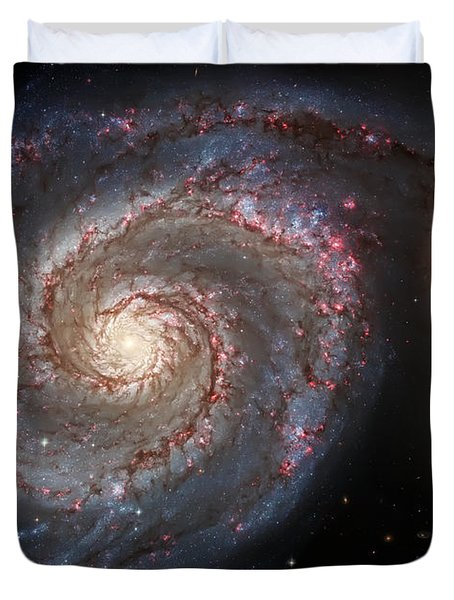 Whirlpool Galaxy 2 Duvet Cover by The  Vault - Jennifer Rondinelli Reilly