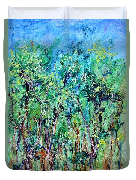 Whirlwoods Duvet Cover by Regina Valluzzi