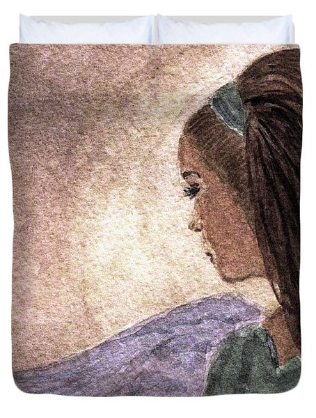 Whisper Of Wings Duvet Cover by Angela Davies