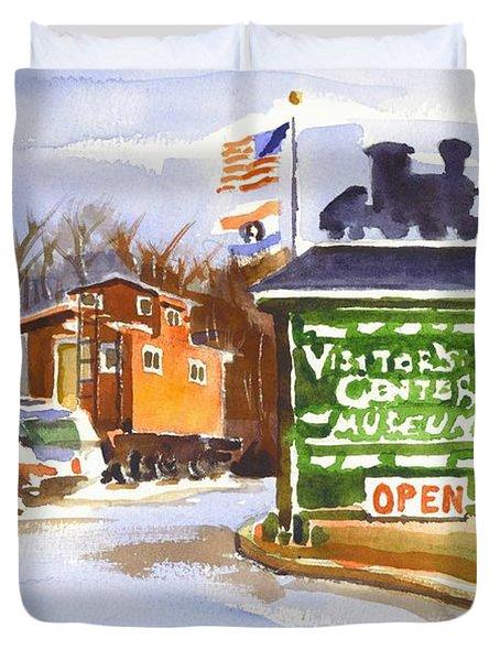 Whistle Junction in Ironton Missouri Duvet Cover by Kip DeVore