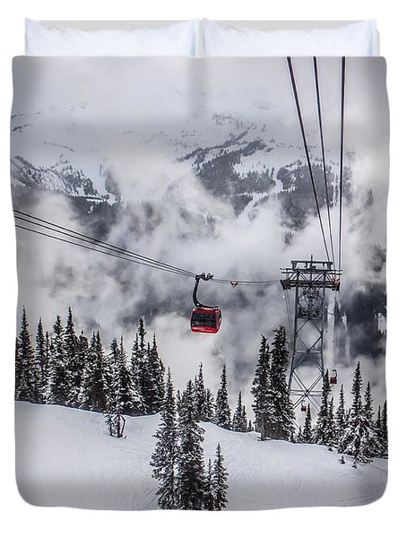 Whistler Blackcomb Weather Duvet Cover by Alanna DPhoto
