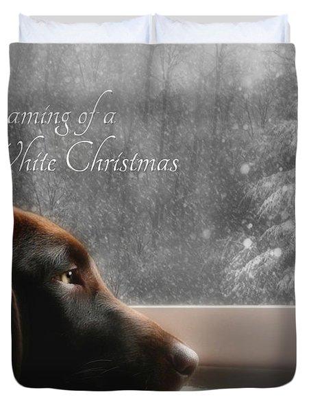 White Christmas Duvet Cover by Lori Deiter