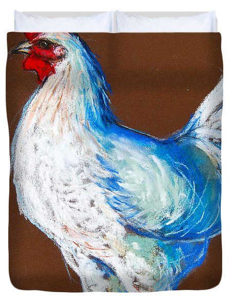 White Hen Duvet Cover by Mona Edulesco