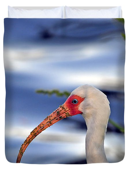Intriguing Ibis Duvet Cover by Al Powell Photography USA