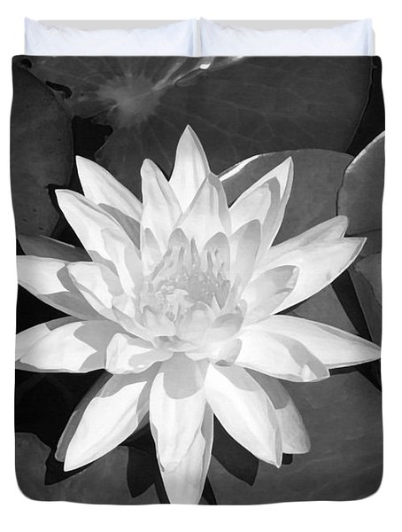 White Lotus 2 Duvet Cover by Ellen Henneke