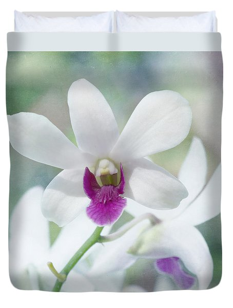 White Orchid Duvet Cover by Kim Hojnacki