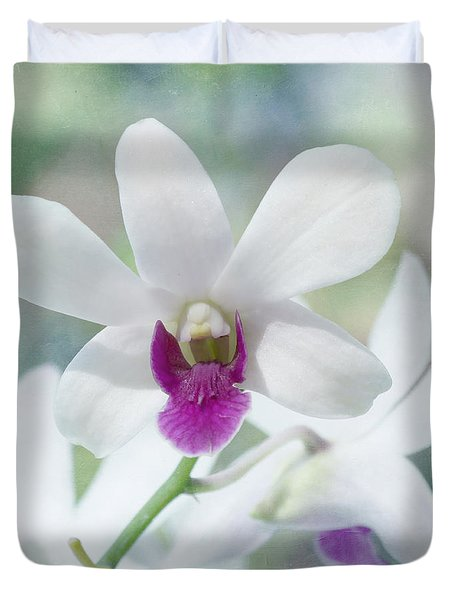 White Orchid Duvet Cover by Kim Hojnacki