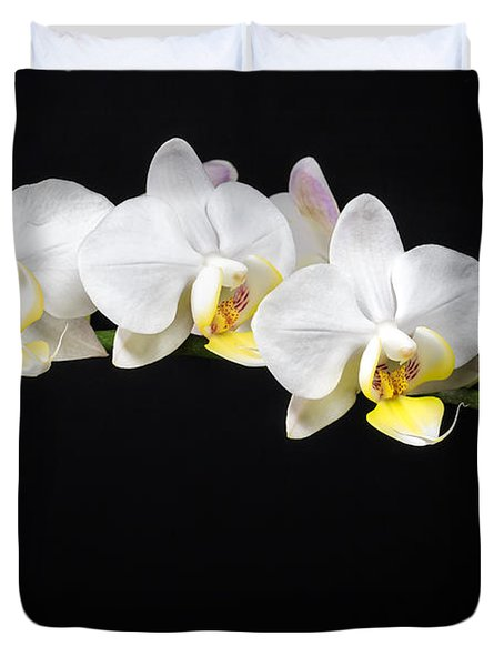 White Orchids Duvet Cover by Adam Romanowicz