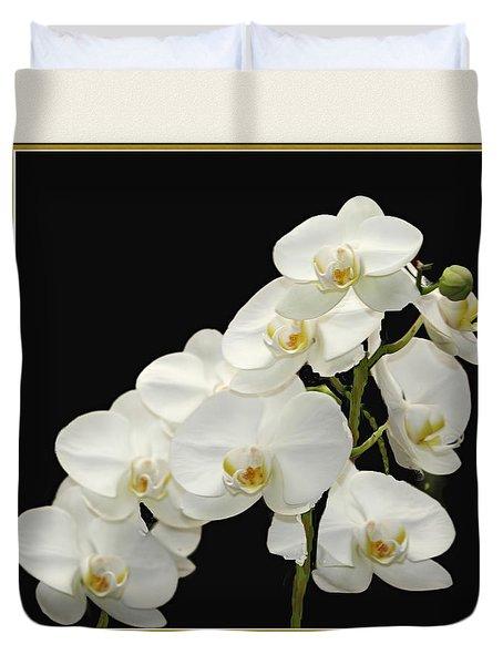 White Orchids II Duvet Cover by Tom Prendergast